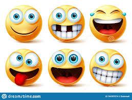 smiley emojis vector face set smileys