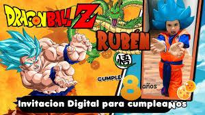 Invitaciones Digitales Dinamita Producciones Dragon Ball Video