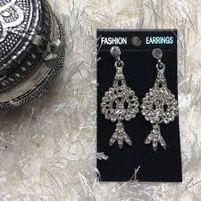 diamond indian chandelier earrings