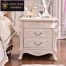 european wood bedside cabinet