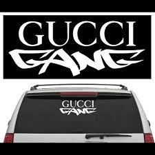 Wall Art Hip Hop Decal Gucci Gang Poshmark