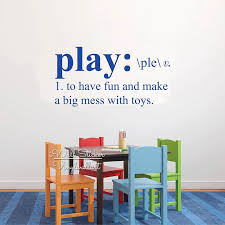 Play Room Play Quote Wall Sticker Kids Room Wall Quotes Decal Diy Removable Children Room Quotes Wall Decor Cut Vinyl Q287 Wall Stickers Aliexpress