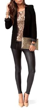 leather leggings blazer