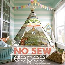 No Sew Teepee Easy And Inexpensive Indoor Play Place Or Reading Nook