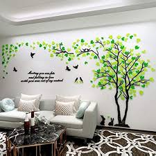 Amazon Com Unitendo Acrylic 3d Wall Stickers Wall Decal Easy To Install Apply Diy Decor Sticker Home Art Decor Green Mix Right L Home Kitchen