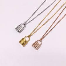 lock necklace titanium steel
