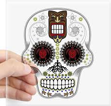 Amazon Com Cafepress Candy Skull Hawiian Shirt Ghost Outline Sticker Square Bumper Sticker Car Decal 3 X3 Small Or 5 X5 Large Home Kitchen