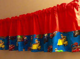 Patrol Kids Colorblock Valance Curtain Boys Room Window Etsy