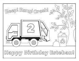 Trash Truck Kleurplaat Kleurplaat Verjaardag Digitaal Etsy