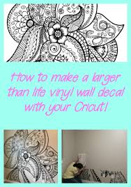 How To Create A Large Vinyl Wall Decal With Your Cricut Expressions Vinyl