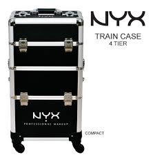 nyx makeup artist train case 4 tier