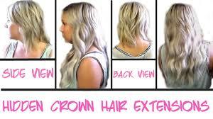 hidden crown hair extensions custom