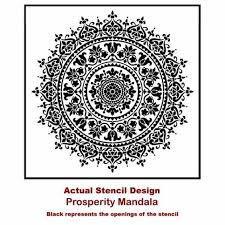 Mandala Stencil Prosperity Mandala Stencil For Furniture Walls Or Floors Diy Home Decor Better Than Decals Cutting Edge Stencils Online Store Powered By Storenvy