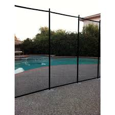 Sentry Safety Pool Fence 4 Ft X 12 Ft Green Removable Child Barrier Pool Safety Mesh Fence Visiguard 4 Green The Home Depot