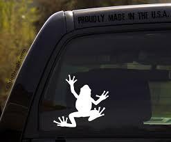 Tree Frog Decal Vinyl Car Window Sticker Etsy