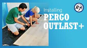 installing pergo outlast flooring