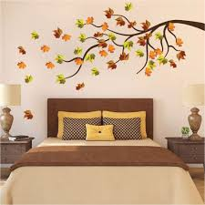 Fall Tree Branch Wall Decal Custom Leaves Decor Autumn Wall Decoration American Wall Designs