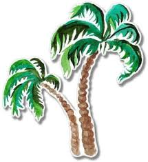 Amazon Com Gt Graphics Palm Trees Watercolor 8 Vinyl Sticker For Car Laptop I Pad Waterproof Decal Computers Accessories