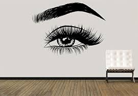 Amazon Com Eyelashes Decal Eyelashes Eye Wall Decal Eyelashes Eye Wall Sticker Girls Eyes Eyebrows Wall Decor Beauty Salon Decal Make Up Wall Decor Kau 397 Handmade