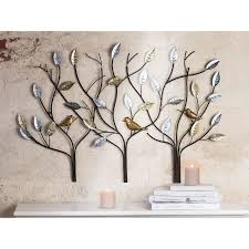large gold and silver trees wall art