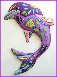 decorative metal beach decor dolphin