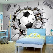 Custom 3d Soccer Sports Wallpaper For Walls Mural Football Wall Art Beddingandbeyond Club