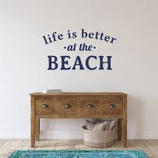 Shop Life Is Better At The Beach Wall Decal 36 Inch Wide X 20 Inch Tall Overstock 11167532