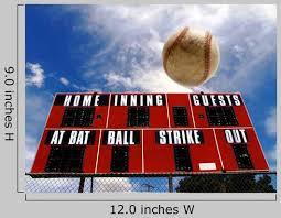 Baseball Homerun With Scoreboard Wall Decal Wallmonkeys Com