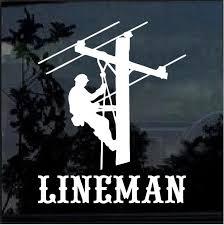 Lineman Decal Lineman Electrician Sticker A2 Custom Sticker Shop