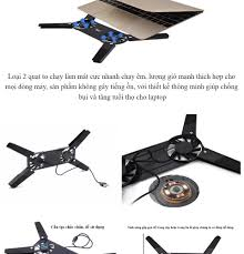 Đế làm mát Laptop, Đế Tản Nhiệt Thông Minh Gấp Gọn, Phụ kiện, đồ chơi máy  tính, Phụ kiện Máy Tính gắn dây, ĐẾ TẢN NHIỆT XẾP 2 QUẠT, Đế Tản Nhiệt