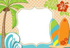 Surf Invitaciones Infantiles 100 00 En Mercado Libre