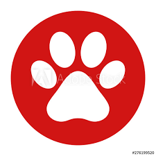 Animal paw print icon flat red round button vector illustration - Buy this  stock vector and explore similar vectors at Adobe Stock | Adobe Stock