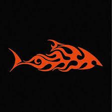 7 Tribal Shark Vinyl Decal Window Stick Buy Online In Bahamas At Desertcart