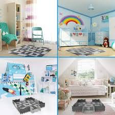 Interlocking Foam Floor Tiles 0 47 25pcs Baby Play Mat With Fence Including 9 Different Vehicle Styles Thick Kids Room Decor Large Mat Activity Entertainment Baby