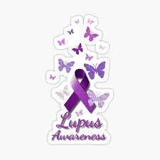 Purple Awareness Ribbon Lupus Sticker By Alondra Redbubble