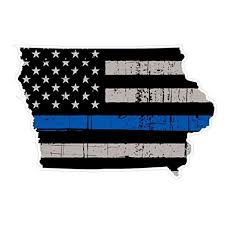 Iowa State V16 Thin Blue Line Vinyl Decal Sticker Car Truck Laptop Netbook Window Walmart Com Walmart Com