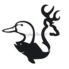 Bass Buck Duck Window Decal Bass Buck Duck Window Sticker 7088 Hunting Decal Window Stickers Duck Hunting Decals
