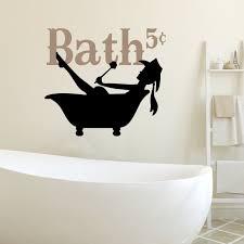Bathroom Wall Decal Cowgirl Bathtub Rustic Farmhouse Vinyl Etsy