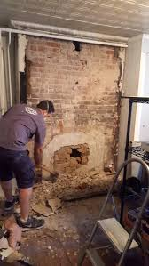 how to re a brick fireplace