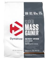 dymatize super m gainer 12 lbs fudge