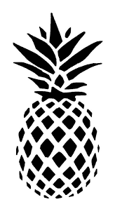 Pineapple Vinyl Car Decal Bumper Window Sticker Any Color Stencils Prints Cricut Crafts
