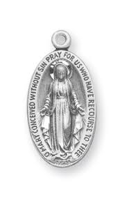 small oval vintage miraculous medal