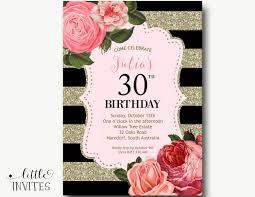 30 Cumpleanos Invitacion Cumpleanos Invitacion Mujer X2f