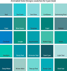 color swatches for cyan yellow yellow