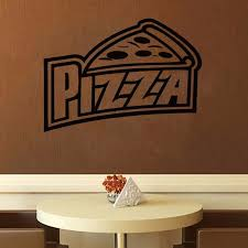 Pizza Wall Decal Pizzeria Wall Decor Pizza Window Decal Etsy