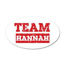 Team Hannah 35x21 Oval Wall Decal By Mmam Cafepress