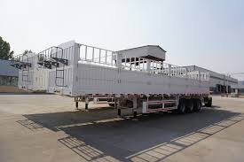 Tons Per 40ft Container Fence Semi Trailer In Truck Trailer Cimc For Sale Fence Cargo Trailer Manufacturer From China 107673041