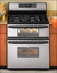 inch freestanding double oven gas range