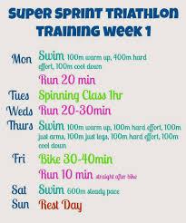 6 week beginner super sprint triathlon
