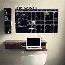 Write Erase Monthly Decal Planner Wall Sticker Chalkboard Iwantzone Com